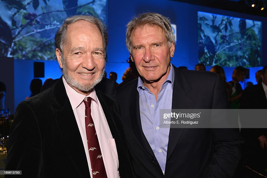 Scientist Jared Diamond and actor <a gi-track='captionPersonalityLinkClicked' href=/galleries/search?phrase=Harrison+Ford+-+Actor+-+Born+1942&family=editorial&specificpeople=11508906 ng-click='$event.stopPropagation()'>Harrison Ford</a> attend Conservation International's 17th Annual Los Angeles Dinner at Montage Beverly Hills on April 4, 2013 in Beverly Hills, California.