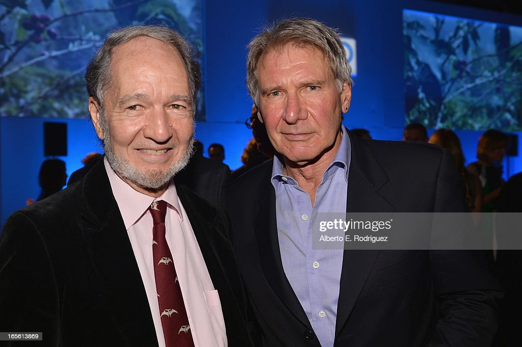 Scientist Jared Diamond and actor Harrison Ford attend Conservation International's 17th Annual Los Angeles Dinner at Montage Beverly Hills on April 4, 2013 in Beverly Hills, California.