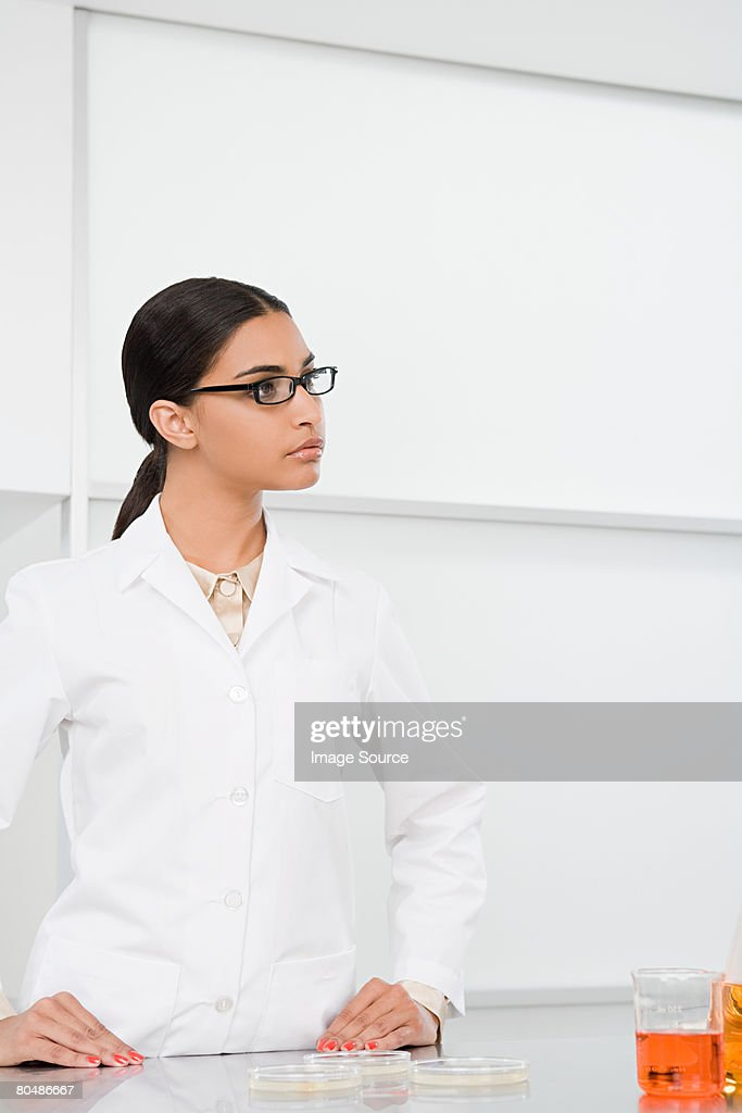 A scientist : Stock Photo