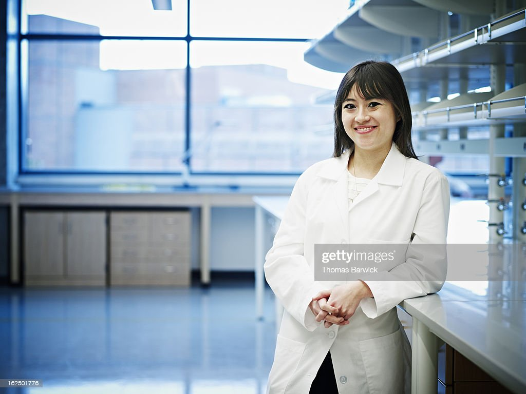 Scientist standing in new research laboratory