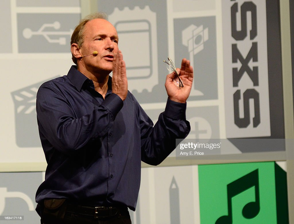 Scientist <a gi-track='captionPersonalityLinkClicked' href=/galleries/search?phrase=Tim+Berners-Lee&family=editorial&specificpeople=2609258 ng-click='$event.stopPropagation()'>Tim Berners-Lee</a> speaks onstage at the Open Web Platform: Hopes & Fears during the 2013 SXSW Music, Film + Interactive Festival at Austin Convention Center on March 9, 2013 in Austin, Texas.