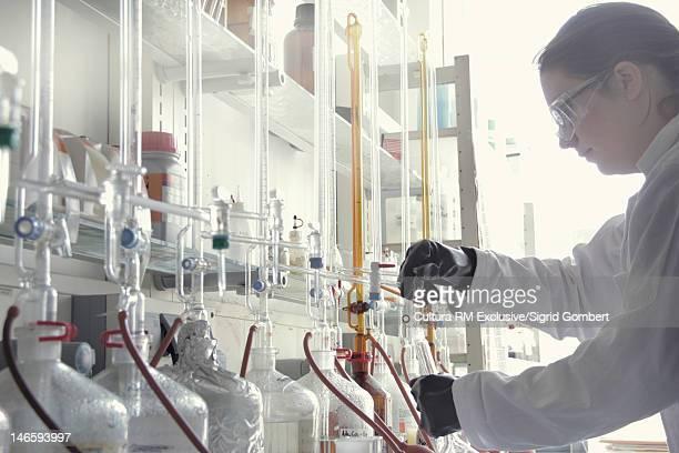 Scientist working in chemistry lab