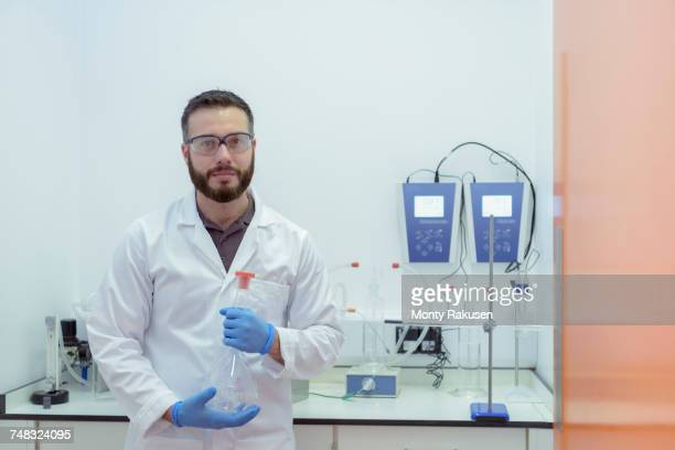 Scientist working in electrical cable laboratory