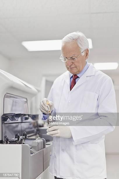 Scientist working in pathology lab