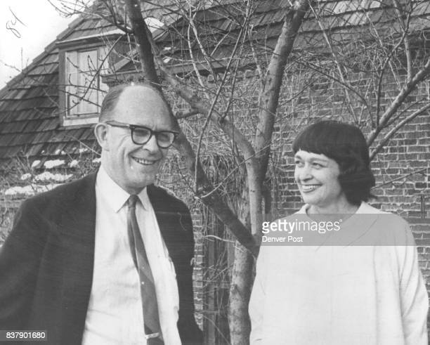 Scientists From a Devoted Team in SpaceAge Marriage Dr Willard Libby and his wife Dr Leona Libby stand in front of their Boulder colo home Credit The...