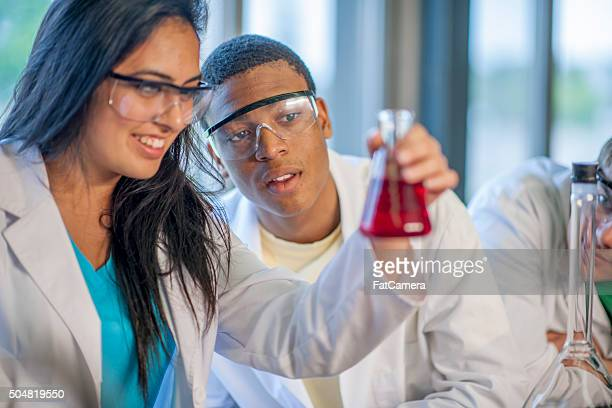 Scientists Looking at the Results