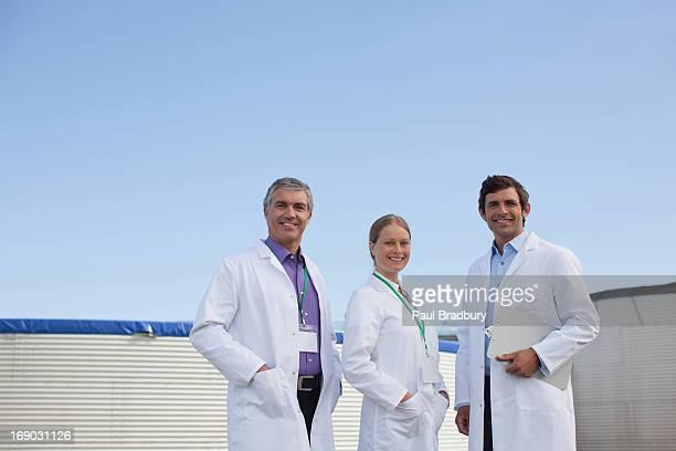 Wissenschaftler im Freien