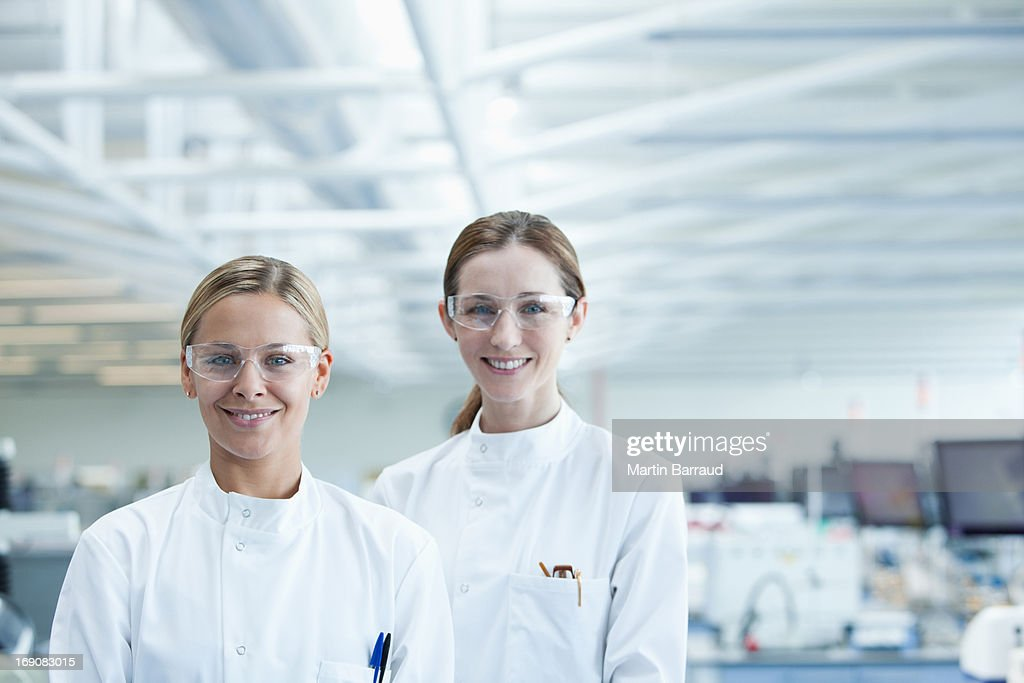 Scientists standing together in lab