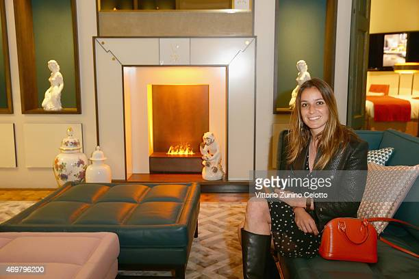 Scilla Ruffo di Calabria attends the Meissen Couture Home Collection Presentation during Design Week on April 14 2015 in Milan Italy