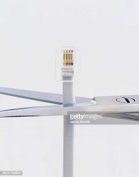 Scissors Cutting Phone Cord