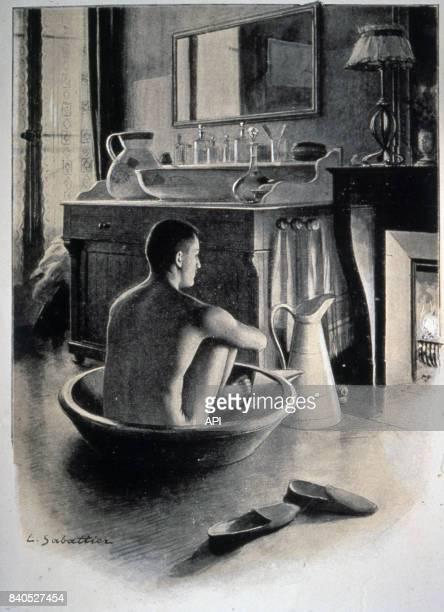 Scène de toilette en 1909 illustration de Louis Rémy Sabattier