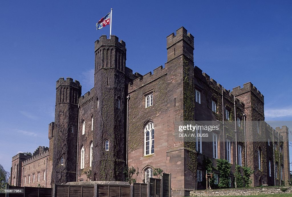 Scone Palace in Perth Scotland United Kingdom 19th century