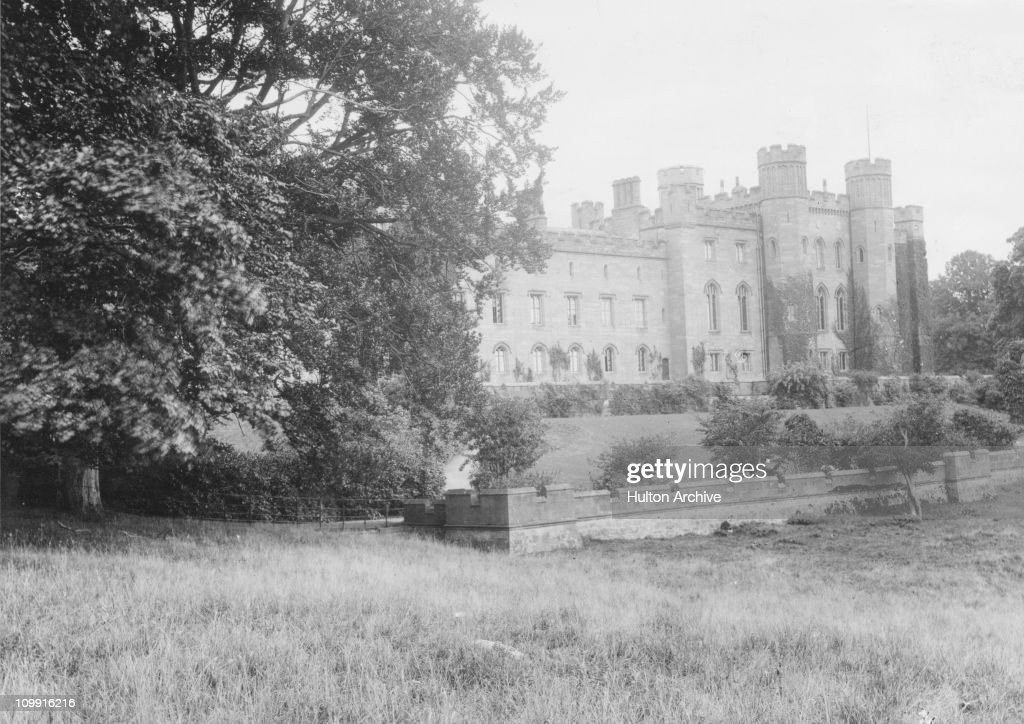 Scone Palace Perthshire Scotland the seat of the Earl of Mansfield circa 1910 Scone was the capital of the kingdom of the Picts and here the Scottish...