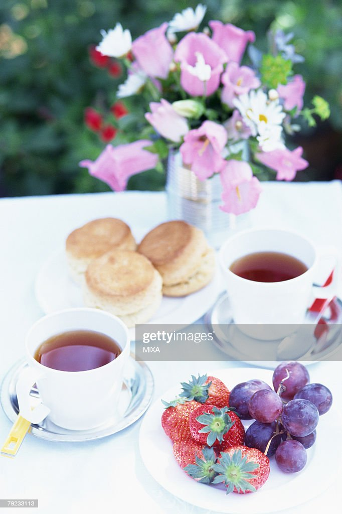 Scones and Tea : Stock Photo