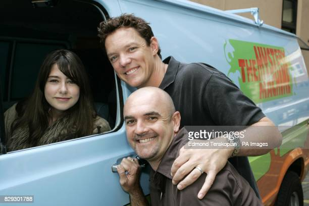Scooby Doo 2 stars Matthew Lillard and Neil Fanning the voice of Scooby meet Rebecca Hooper from Teignmouth in Devon during a visit in the Mystery...