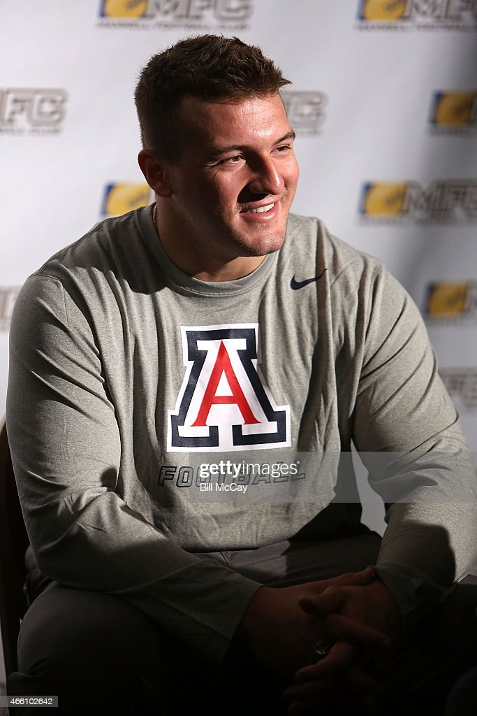 Scooby Wright III winner of the Chuck Bednarik Award for College Defensive Player of the Year attends the 78th Annual Maxwell Football Club Awards Gala Press Conference at the Tropicana Casino March 13, 2015 in Atlantic City, New Jersey.