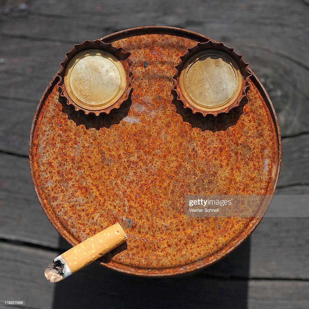Scool rusty face of  founden waste : Stock Photo
