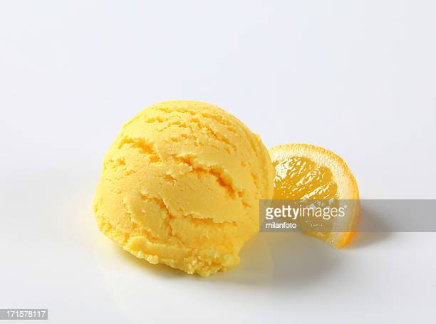 Scoop of lemon icecream