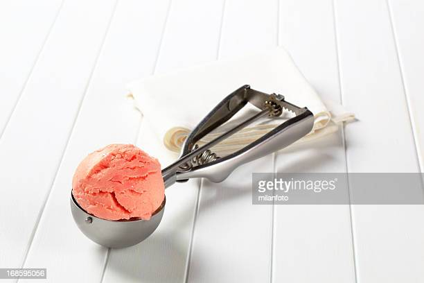 Scoop of pink ice cream