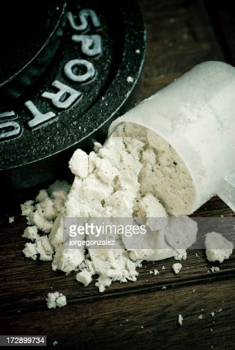 Scoop of protein and weights