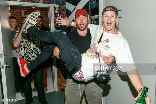 Scooter Braun and Rory Kramer attend MTV's Dare To Live Premiere Party at WNDO Space on August 29 2017 in Venice California