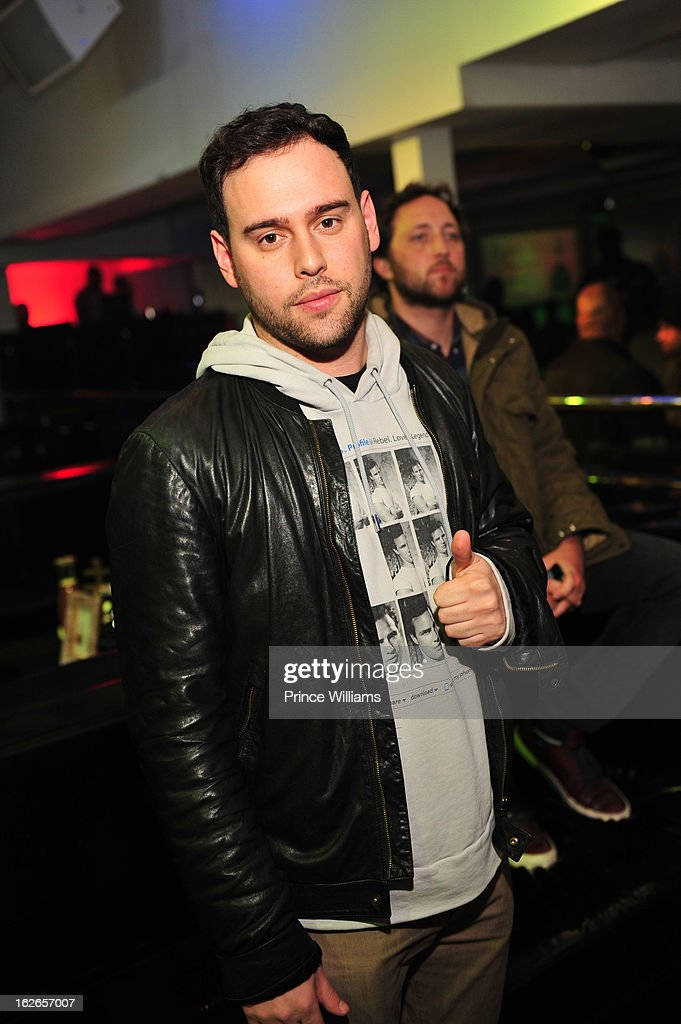 <a gi-track='captionPersonalityLinkClicked' href=/galleries/search?phrase=Scooter+Braun&family=editorial&specificpeople=4394003 ng-click='$event.stopPropagation()'>Scooter Braun</a> attends the So So Def anniversary party hosted by Jay Z at Compound on February 23, 2013 in Atlanta, Georgia.
