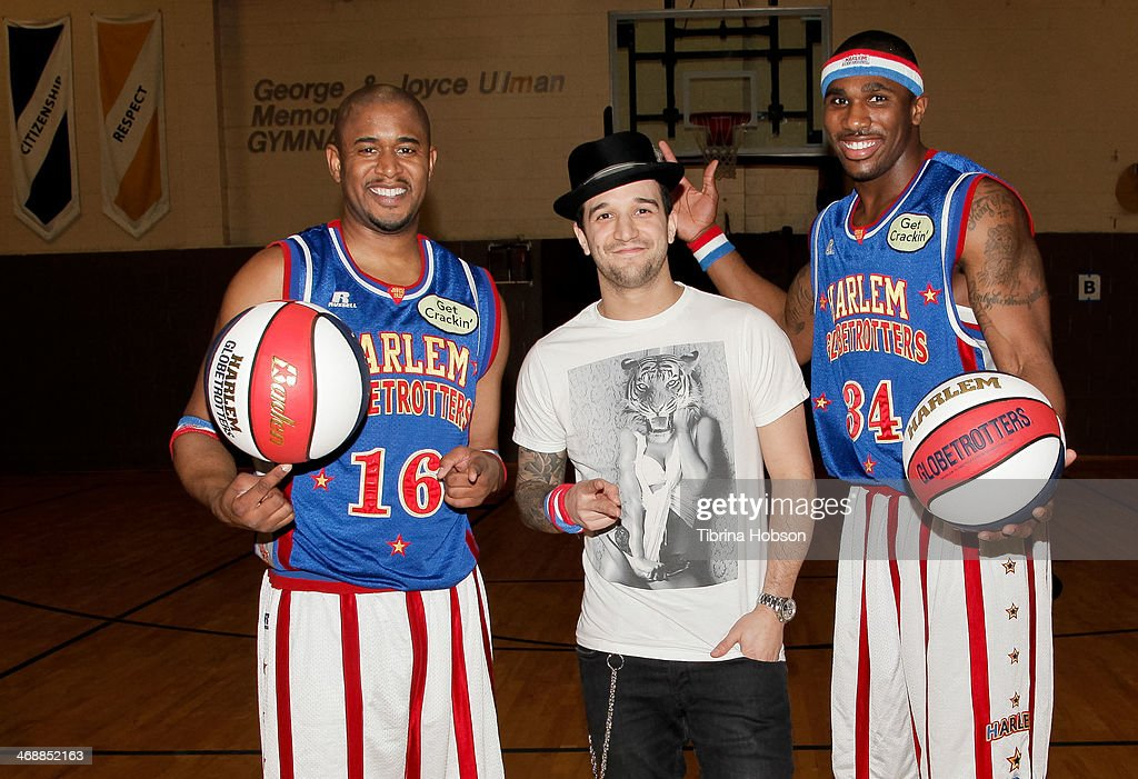 Scooter Christensen and Thunder Law of the Harlem Globetrotters and Mark Ballas team up for Special Olympics at Weingart East Los Angeles YMCA on...