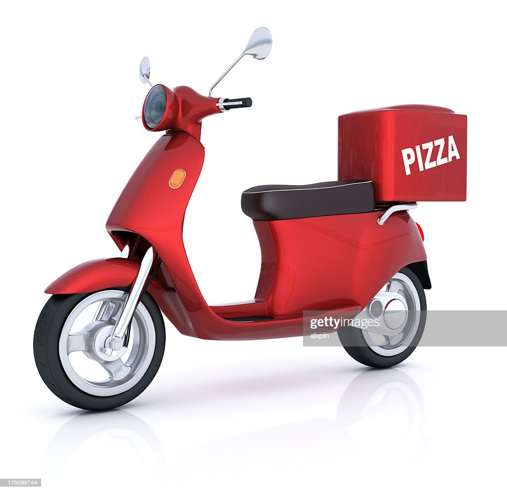 Scooter for pizza delivery