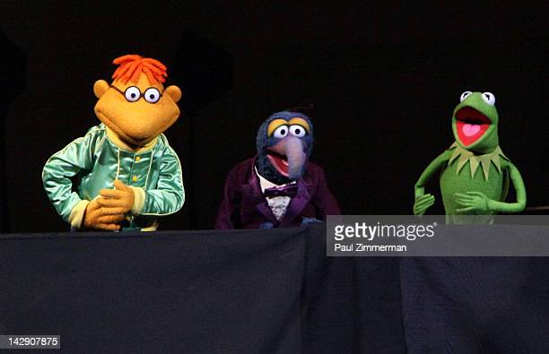 Scooter Gonzo and Kermit the Frog perform during The New York Pops Present 'Jim Henson's Musical World' at Carnegie Hall on April 14 2012 in New York...