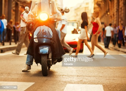 Scooter in Italy : Stock Photo