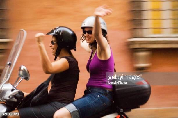 Scooter riders in Centro Storico.