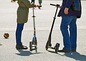 Scooter-a common form of transport in the city.And also it is useful for health.