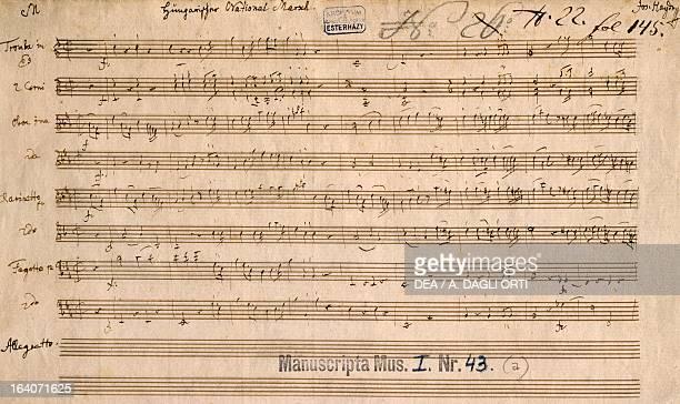 Score for Ungarischer Nationalmarsch by Franz Joseph Haydn 1802 Budapest Szechenyi Nemzeti Konyvtar