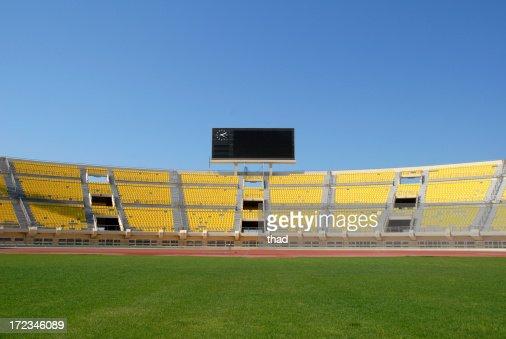Scoreboard in Empty Stadium