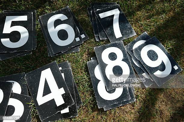 A scoreboard numbers are seen during an A vs B cricket match on October 2 2016 in Frankfurt A boom of interest in cricket in Germany fuelled by the...