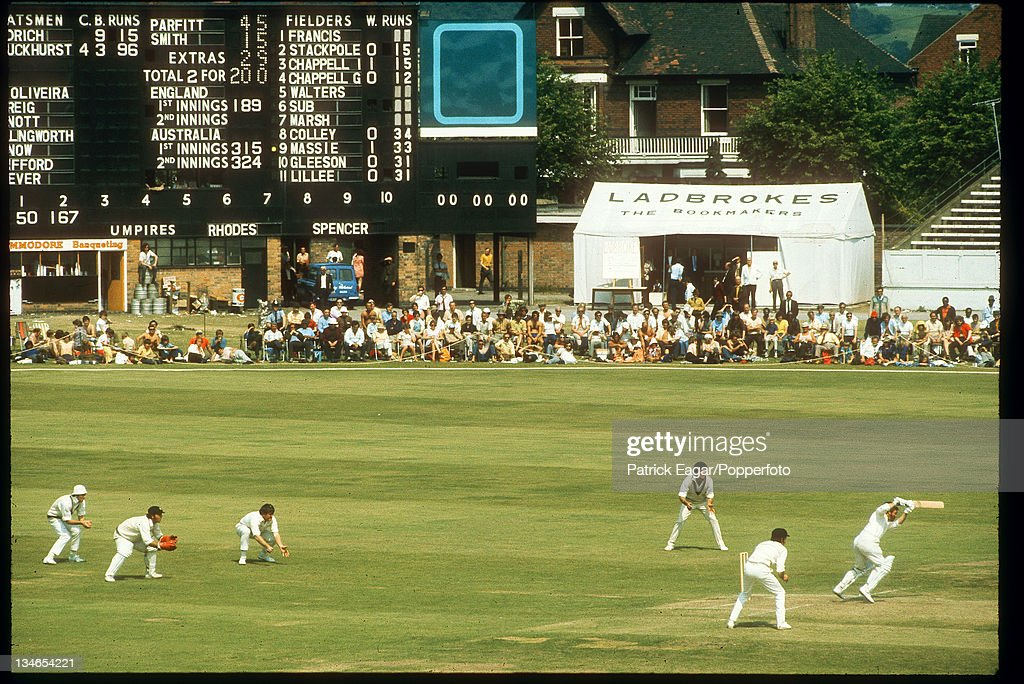 Scoreboard to be demolished England v Australia 3rd Test Trent Bridge July 1972