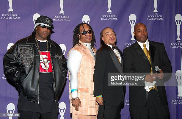 Scorpio Mele Mel Kid Creole and Rahiem of Grandmaster Flash and the Furious Five inductees
