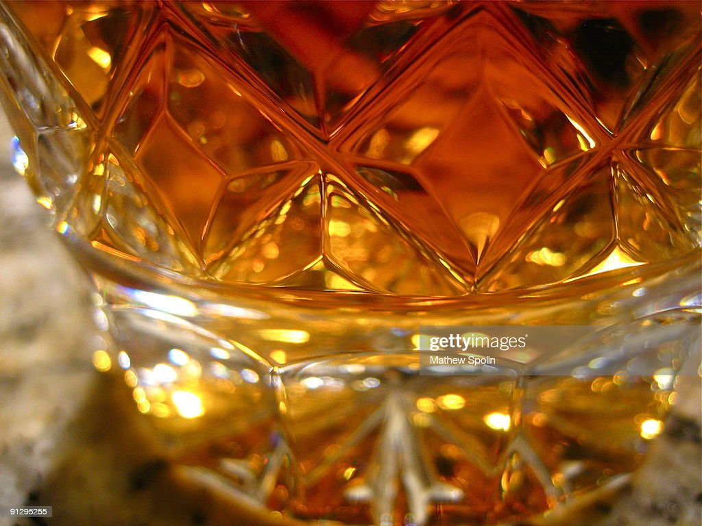 Scotch in a Crystal Glass : Stock Photo