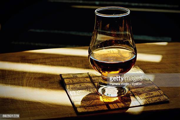 Scotch Swerved On Table