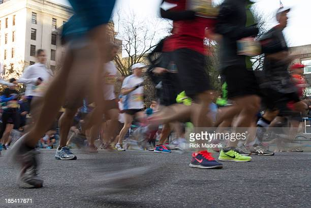 TORONTO OCTOBER 20 Scotiabank Toronto Waterfront Marathon takes over the majority of the downtown as 25000 runners take part in the annual event...