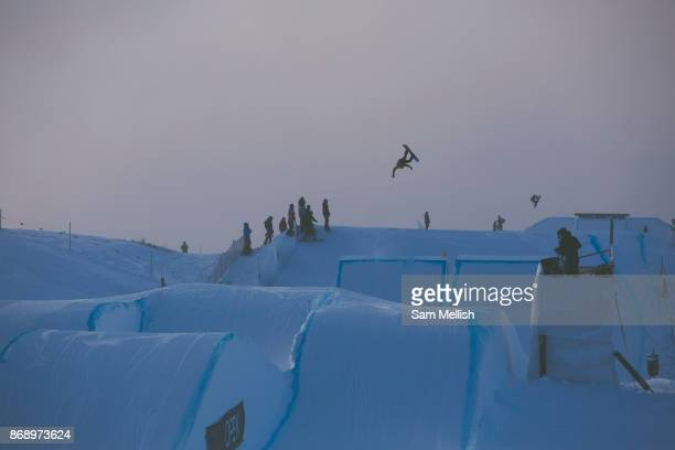 Scotish professional snowboarder Matt McCormick during the 2017 Laax Open Slopestyle competition on 17th January 2017 in Laax Switzerland The Laax...