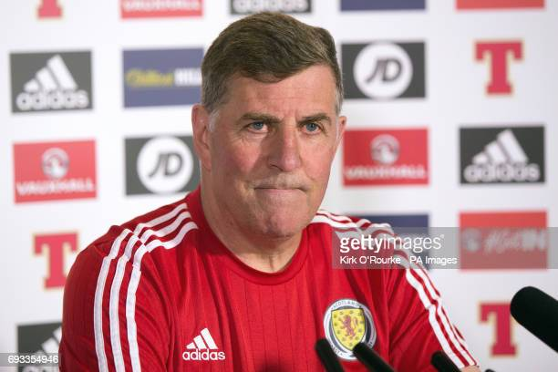 Scotland assistant manager Mark McGhee during the press conference at Hampden Park Glasgow