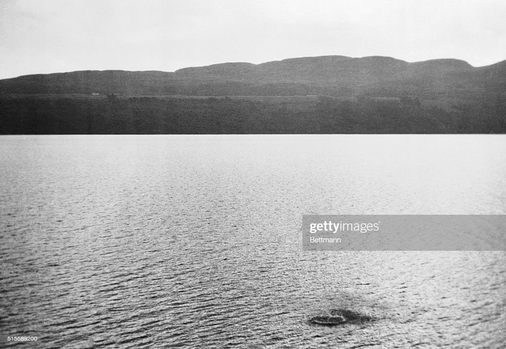 Authentic Picture Of Loch Ness 'Monster' The dark blotch ruffling the surface of Loch Ness in Scotland is reputedly a disturbance caused by the Loch...
