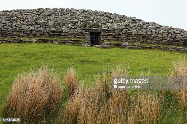 Scotland Cairns of Camster Lie In Caithness In Scottish Highlands To The North of Lybster and Exist of The Round One and The Long Stone Hill Grey...