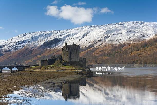 UK, Scotland, Dornie, Eilean Dornie Castle on Loch Duich