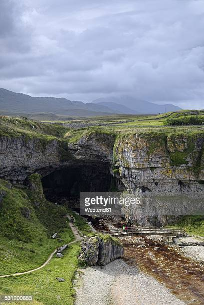 UK, Scotland, Durness, entrance to Smoo Cave