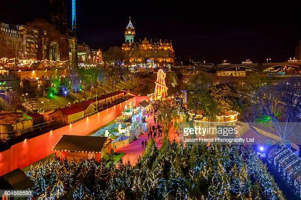 Scotland, Edinburgh, Christmas Market