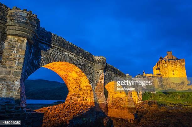 Scotland Eilean Donan Castle iconic fort bridge Loch Duich Highlands