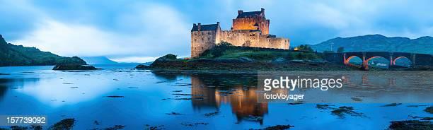Scotland Eilean Donan Castle reflecting in Loch Duich Highlands