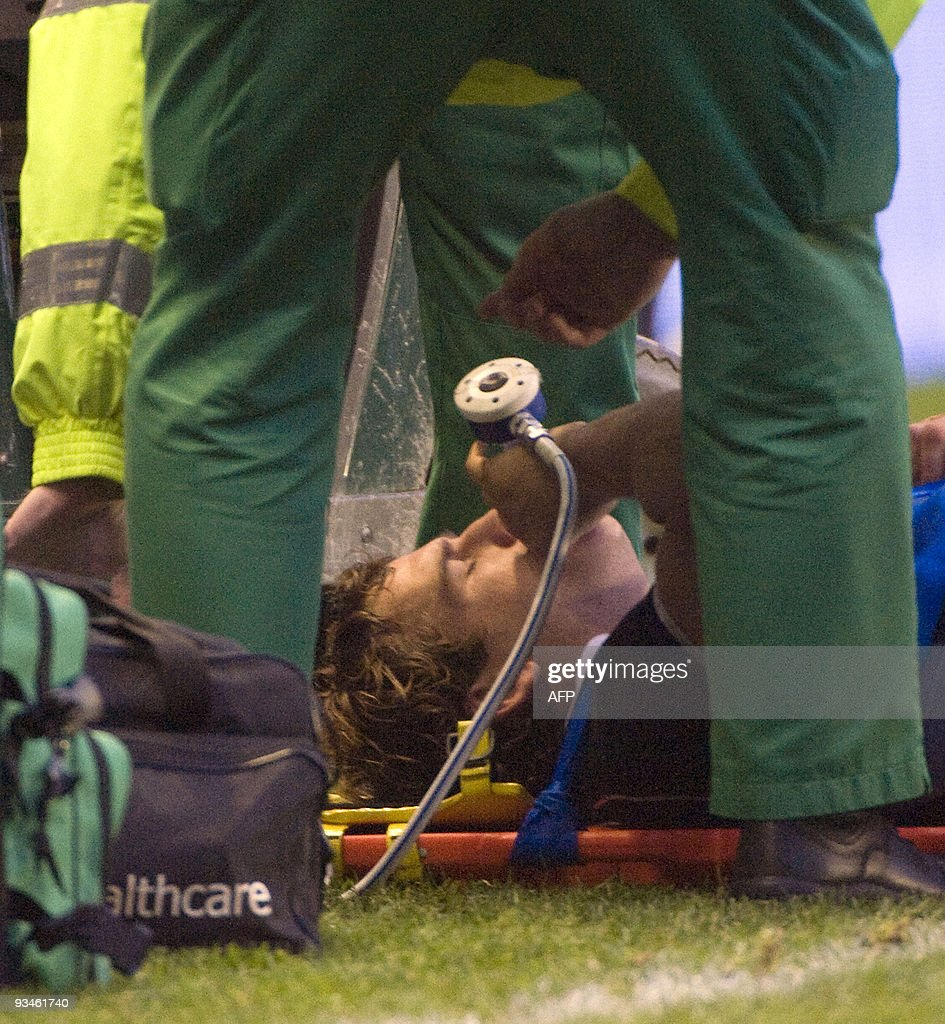 1740 scotland - Scotland Full Back Rory Lamont Lies Injured During Second Half The International Rugby Union Match Between